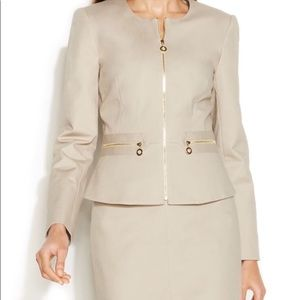 Calvin Klein skirt suit with peplum jacket